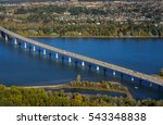 bridge crossing columbia river... | Shutterstock . vector #543348838