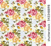 seamless floral pattern with...   Shutterstock .eps vector #543348898