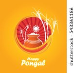 pongal design template with...   Shutterstock .eps vector #543361186