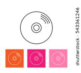 vector cd or dvd icon | Shutterstock .eps vector #543361246