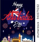 australia map with flag vector  ... | Shutterstock .eps vector #543375232