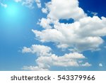 sky with clouds and sun | Shutterstock . vector #543379966