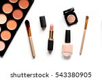 decorative cosmetics nude on... | Shutterstock . vector #543380905
