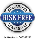 blue risk free badge  button... | Shutterstock .eps vector #543382912
