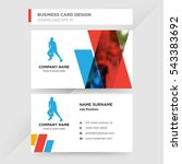 template of business card for... | Shutterstock .eps vector #543383692