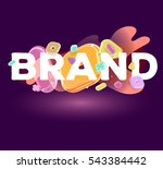 vector colorful modern business ... | Shutterstock .eps vector #543384442