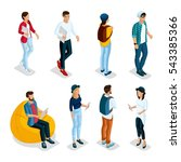 trendy isometric young creative ... | Shutterstock .eps vector #543385366