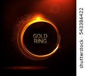 golden shiny rings. ornate... | Shutterstock .eps vector #543386422
