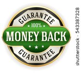 green metallic money back... | Shutterstock .eps vector #543387328