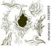 set   floral | Shutterstock .eps vector #54338905