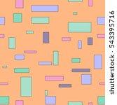 geometric seamless bright... | Shutterstock .eps vector #543395716