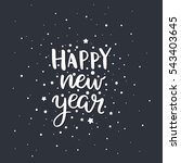 merry christmas quote  vector... | Shutterstock .eps vector #543403645