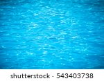 Water And Air Bubbles Over Blu...