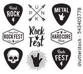 rock fest badge label vector... | Shutterstock .eps vector #543405778