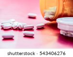 photograph of some some pills... | Shutterstock . vector #543406276