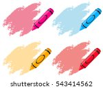 crayons in four colors... | Shutterstock .eps vector #543414562