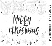 christmas greeting card ... | Shutterstock .eps vector #543418738