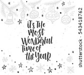 christmas greeting card ... | Shutterstock .eps vector #543418762