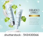 ginkgo cosmetic ads  blue... | Shutterstock .eps vector #543430066