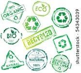 eco stamp set | Shutterstock . vector #54343039