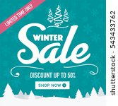 winter sale social network... | Shutterstock .eps vector #543433762