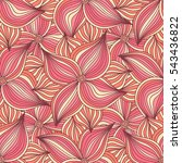 abstract striped flowers... | Shutterstock .eps vector #543436822