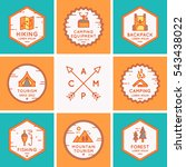 set of logos and symbols for... | Shutterstock .eps vector #543438022