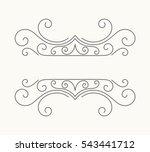 hand drawn decorative border in ... | Shutterstock .eps vector #543441712
