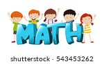 font design for word math with... | Shutterstock .eps vector #543453262