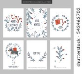 set of christmas and new year... | Shutterstock .eps vector #543463702