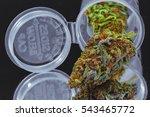 close up of blue cookies... | Shutterstock . vector #543465772