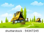 Landscape With Old House In Th...