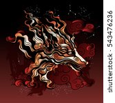 ancient mythical fox from... | Shutterstock .eps vector #543476236