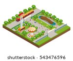 amusement park isometric... | Shutterstock .eps vector #543476596