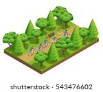 camping hiking isometric... | Shutterstock .eps vector #543476602