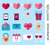 valentines icon set  vector... | Shutterstock .eps vector #543477106