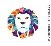 lion head logo template... | Shutterstock . vector #543481612