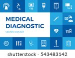 medical diagnostic vector icon... | Shutterstock .eps vector #543483142