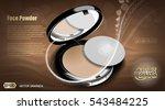 modern face powder or blush ads.... | Shutterstock .eps vector #543484225