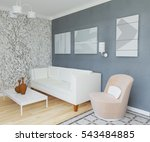 3d illustration living room... | Shutterstock . vector #543484885