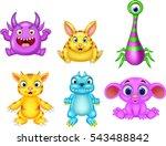 cartoon monster collection set | Shutterstock . vector #543488842