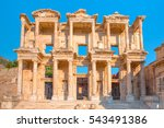 celsus library in ephesus ... | Shutterstock . vector #543491386