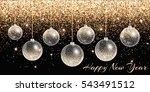 christmas lights. new year... | Shutterstock .eps vector #543491512