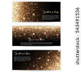 set of banners with golden... | Shutterstock .eps vector #543491536