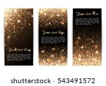 set of banners with sparkles on ... | Shutterstock .eps vector #543491572