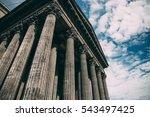 retro photo of composite greek... | Shutterstock . vector #543497425