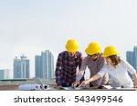 engineer group and worker... | Shutterstock . vector #543499546
