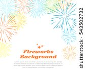 fireworks background with... | Shutterstock .eps vector #543502732