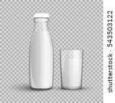 transparent glass bottle and a... | Shutterstock .eps vector #543503122