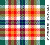 seamless plaid pattern.... | Shutterstock .eps vector #543504316